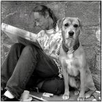 The dog and his man by rain1man