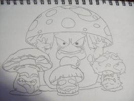 Funny Mushrooms by DemonGirl2010