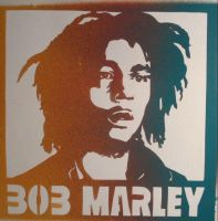 'Bob Marley' the stencil by Bertenburny