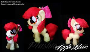 Fuzzy Apple Bloom Plushy by SakuSay
