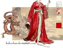Han Dynasty Robe 1 by kukochan
