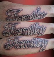Family on forearm by DEMONufctre