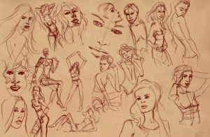 200 seconds sketches 4 by BasakTinli