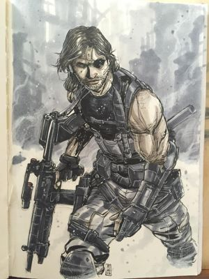 SOLID SNAKE PLISSKEN by deemonproductions