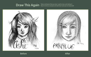 Draw This Again Meme - Portraits by MlleNightingale