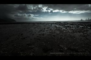 Post-apocalyptic beach at low tide by inetgrafx