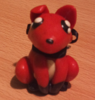 Fox Statuette by spiralingdragon