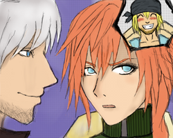 Dante, Lightning, and Snow? by veggwhale