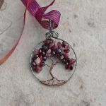 Blood Tree of Life - Garnet and Tourmaline by magpie-poet