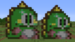 Bub (Puzzle Bobble arcade+SNES) redone, Minecraft by superslinger2007