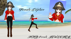 :MMD: Female Captain Pirate DL by MariMariD