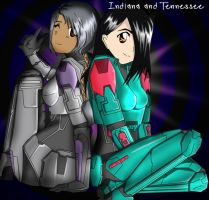Tennessee and Indiana by Bushtuckapenguin