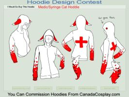 Medic-Syringe Cat Hoodie by Mallphilin
