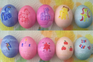 My Little Pony Easter Eggs by Inurantchan