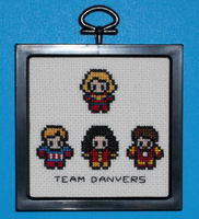 Team Danvers Cross Stitch by chujo-hime