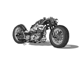 Dwarf adapted Motorcycle by Artigas