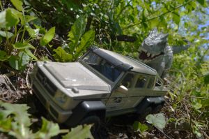 Indominus rex vs Mercedes-Benz G 63 AMG 6x6 (#2) by CrazyAsylumClown