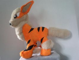 Arcannine Pokemon Plush by cosmiccrittercrafts