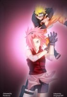 Naruto and Sakura by benderZz