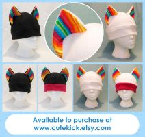 Rainbow Stripes Cat Hat by cutekick