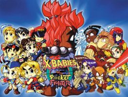 X-Babies Vs Pocket Fighter by pipin