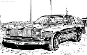 Oldsmobile (Ink) by KeithMeyerArt