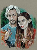Quicksilver and Scarlett Witch (2015) by scotty309