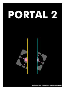 Portal Poster by shadow-sapphire