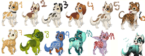 Puppy Adoptables! FREE 'Closed' by LittyKittyStar