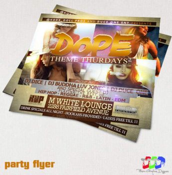 Dope party flyer by PhilVision
