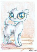 Pretty cat kitten ACEO by KingZoidLord