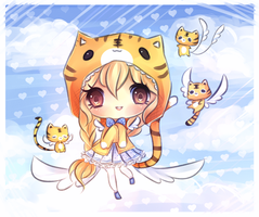 Tiger Angel by mochatchi