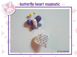 refrigerator butterfly magnet by dubutterflydesign