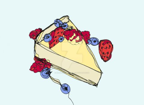 Cheesecake with Toppings by KandusJohnson