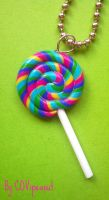 Lollipop necklace by COVipeanut