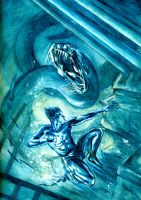 Namor and the Sea Serpent by dfbovey