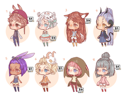 OPEN- 5 LEFT! Set price adoptables by TaiyouChee