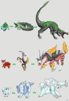 Fakemon: Starter Pokemon by werepenguin