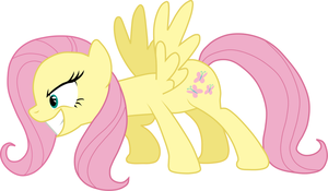Over Assertive Fluttershy by Sazlo