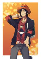 Portgas D. Ace by multieleonora96