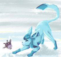Glaceon Art Trade by revois