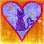 Cat with Hearts by allison731