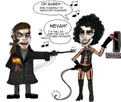 -Javert vs Frank-N-Furter- by Kittengoo