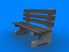 Bench 3ds max model by PostaL2600