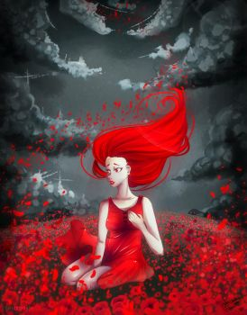 Miss little red dress by Saviroosje