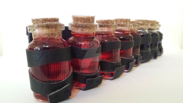 Potion vials by LadyDark64