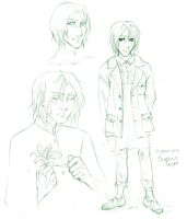 HP7 - Snape sketches by Mayo-chan