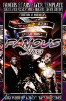 PSD Famous Stars Flyer by retinathemes