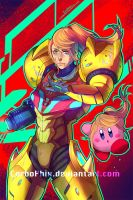 Smash Sisters - Samus and Kirby by CerboPhix