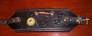 Black Steampunk Wristband 16 by Steampunked-Out